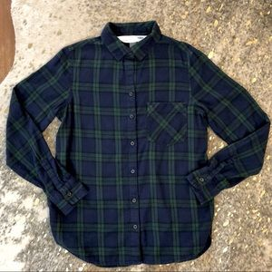 Old Navy Classic Black Watch Flannel, Size M NWOT